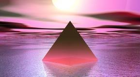 Color de rosa de la pirámide Foto de archivo
