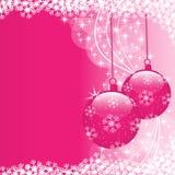 Color de rosa de las bolas de Navidad Fotos de archivo