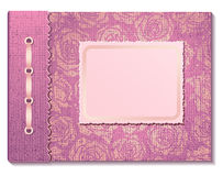 Color de rosa del álbum de foto Fotos de archivo