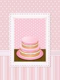 Color de rosa del fondo de la torta de la vendimia Fotografía de archivo libre de regalías