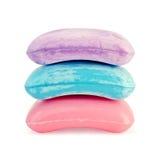 Color de rosa del jabón con azul y púrpura Fotos de archivo