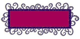 Color de rosa púrpura de la insignia del Web page stock de ilustración