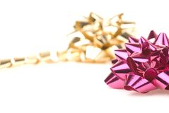 Color de rosa y arqueamiento del oro fotos de archivo