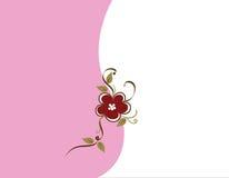 Color de rosa y Brown Backgound floral Fotos de archivo libres de regalías