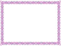 Color de rosa y frontera céltica púrpura stock de ilustración