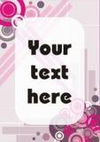 Color de rosa y marco de tarjeta abstracto moderno púrpura Imagenes de archivo