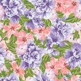 Color de rosa y pasión inconsútil gris Stock de ilustración