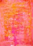 Color de rosa y pintura anaranjada del arte abstracto Imagen de archivo