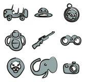 Color de Safari Icons Freehand 2 Imágenes de archivo libres de regalías