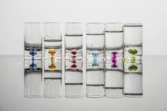 Color de vidrios Imagenes de archivo