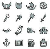 Color de Viking Icons Freehand 2 Imagen de archivo
