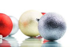 Color decoration balls on white background.  royalty free stock images