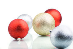 Color decoration balls on white background.  royalty free stock image