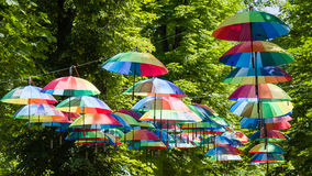 Color decoration umbrellas Royalty Free Stock Images