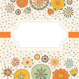 Color decorative flower background with place for text Stock Photos