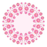 Color Decorative Flower Background With Place For Royalty Free Stock Image