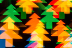 Color defocused bokeh of christmas fir-tree lights Royalty Free Stock Image