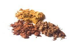 Color del acrílico del pigmento de la perla del oro de Brown Imágenes de archivo libres de regalías