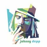 Color del arte pop del depp de Johnny ilustración del vector