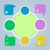 Color del círculo infographic Plantilla para el diagrama o Imágenes de archivo libres de regalías
