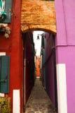 Color del callejón Imágenes de archivo libres de regalías