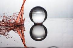Color del chapoteo de la bola de cristal Foto de archivo