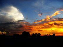 Color del cielo Imagenes de archivo