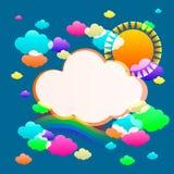Color del cielo del arte Ilustración del Vector