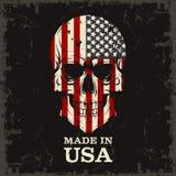 Color del cráneo de la bandera Fotos de archivo