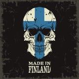 Color del cráneo de la bandera Fotos de archivo libres de regalías