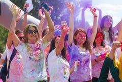 Color del festival corrido en Kiev Foto de archivo libre de regalías