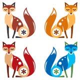 Color del Fox cuatro Imagen de archivo