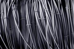 Color del gris del cable de teléfono Imagenes de archivo