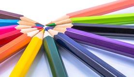 Color del lápiz Imágenes de archivo libres de regalías