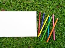 Color del papel de dibujo Fotos de archivo libres de regalías
