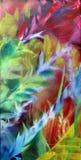 color del petróleo de la naturaleza en lona ilustración del vector