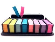 color del post-it Fotografía de archivo