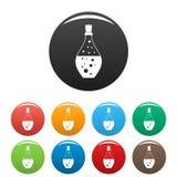 Color del sistema de los iconos de la botella del aroma de la poción libre illustration