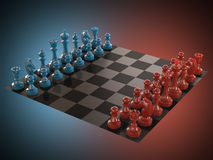 Color del tablero de ajedrez Foto de archivo