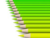 color den gröna spectrumen för crayonen Arkivbild