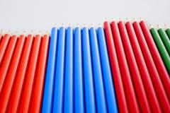color den mång- blyertspennan vit Fotografering för Bildbyråer