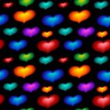 color den seamless wallpaperen för hjärtor Arkivbild