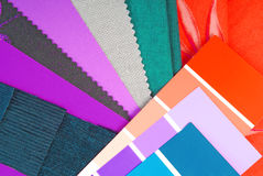 Color design cloth selection Royalty Free Stock Images
