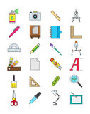 Color design icons set Royalty Free Stock Images