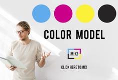Color Design Model Art Paint Pigment Motion Concept Stock Image