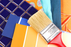 Color design  selection Stock Images