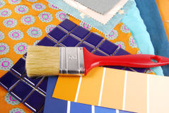 Color design  selection for interior Stock Images