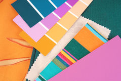 Color design. Trendy selection for interior Royalty Free Stock Photo