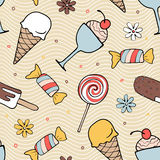 Color desserts seamless pattern Royalty Free Stock Photography