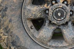 Free Color Detail Shot Of An Off-road Car`s Wheel, Covered In Mud Royalty Free Stock Photo - 87369355